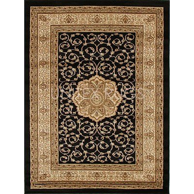 Black & Ivory Power Loomed Durable Easy Care Traditional Rug 170 x 120cm by Rug Culture + ' image'