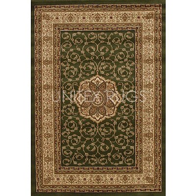 Green Ivory Power Loomed Durable Easy Care Traditional Rug 170 x 120cm by Rug Culture + ' image'