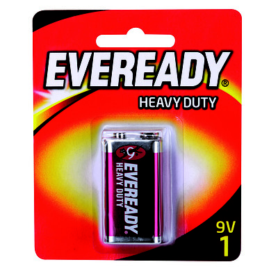 Eveready HD 9V 6 x 1Pk - Brand New + ' image'