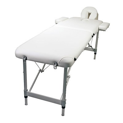 Forever Beauty Aluminium Portable Massage Table 55cm - White - Brand New with 12 Months Warranty + ' image'