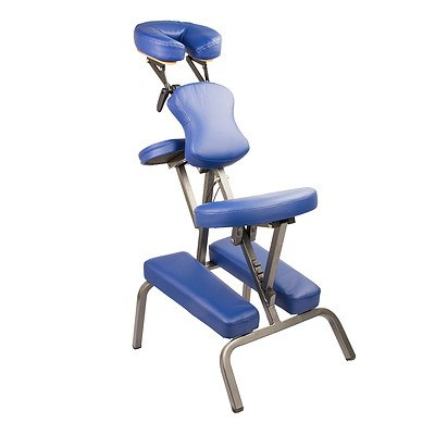 Forever Beauty Aluminium Portable Massage Chair - Blue - Brand New with 12 Months Warranty + ' image'