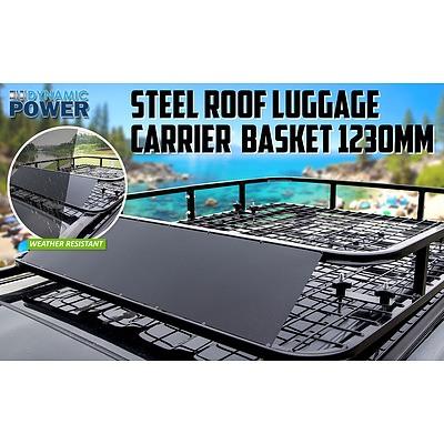Steel Roof Luggage Carrier Basket 1230mm - BLACK - Brand New - RRP: $249