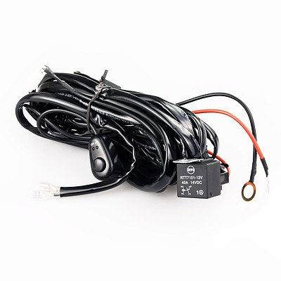 Dynamic Power Car LED Wiring Relay Kit 12V 40A 300W with Switch - Brand New with 12 Months Warranty