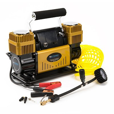 Dynamic Power 12V Air Compressor 300L/min - Gold - Brand New with 12 Months Warranty - RRP: $209