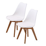 La Bella Replica Eames PU Padded Dining Chair - White x2 - Brand New with 12 Months Warranty