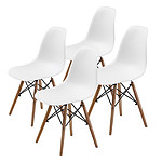 La Bella Replica Eames DSW Dining Chair - WHITE X4 - Brand New with 12 Months Warranty
