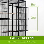 Bird Cage Parrot Aviary Pet Budgie Perch 137cm - Brand New - RRP: $279