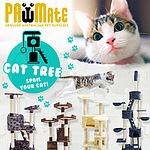 Cat Tree Scratcher ACACIA 193 cm - GREY - Brand New - RRP: $199