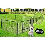 "8 Heavy Duty Panel Foldable Pet Playpen 40"" - Brand New - RRP: $309"