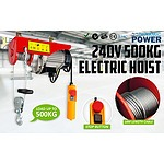 1020w 250/500KG Electric Hoist 240V  - Brand New - RRP: $299