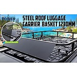 Steel Roof Luggage Carrier Basket 1230mm - BLACK - Brand New - RRP: $249