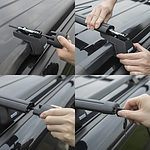 Car Roof Rack Cross Bar 1350mm - BLACK - Brand New - RRP: $139 + 'image'