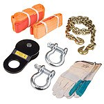 Dynamic Power Winch Recovery Kit 8PCS - Brand New with 12 Months Warranty