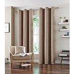 Natural Vermont Eyelet Curtain Set