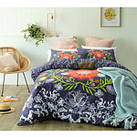 Queen Bed Dahlia Printed Cotton Quilt Cover Set