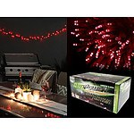 100 Solar Fairy Lights LED Low Red 8 Fcn Memory Hold 9.95M - Brand New