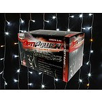 150 Curtain Lights LED White With Warm White Flashing 6.4M - Brand New