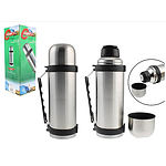 S/STEEL FLASK 1LTR W/HANDLE HOT & COLD