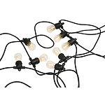 Outdoor Marquee Lights 10Mtr 10 Socket W/Bulbs Black - Brand New